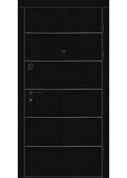 """Двери 9000-01 с горизонтальным алюм. молдингом """"Новый Мир"""""""
