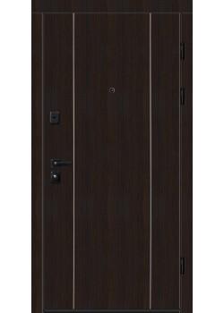 """Двери 9000-02 с вертикальным алюм. молдингом """"Новый Мир"""""""