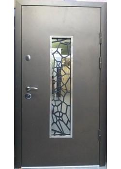 Двери 142 (коричн.) (стекло+ковка №19) Arma