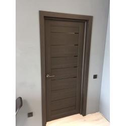 Двери Neapol BLK дуб саксонский Leador