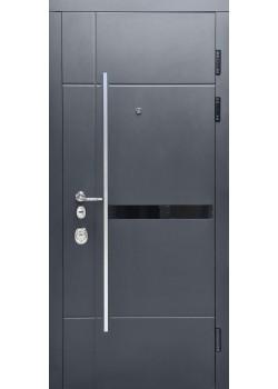 Двери ОЛИМП мод 908-521 черная шагрень-белый супермат Булат