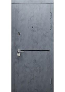 Двери СТАТУС мод 513 бетон антрацит-бетон серый Булат