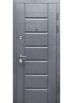 Двери ГАРАНТ мод 117 дуб грифель горизонт-дуб пломбир горизонт Булат