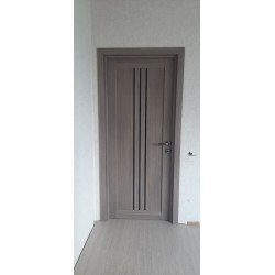 Двери Verona BLK серое дерево Leador