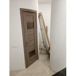 Двери Arona Сатин бронза дуб мокко Leador