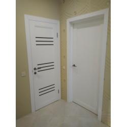 Двери Sovana Белые сатин Leador