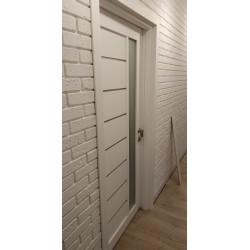 Межкомнатные Двери Lorenza Белые серый графит Leador ПВХ плёнка