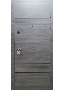 Двери МАГНАТ мод 518 венге серый горизонт Булат