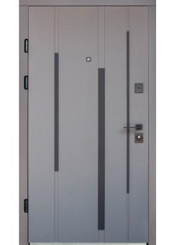 """Двери 623 софт-тач элегантный серый/белый супермат (фурнитура хром) """"Arma"""""""