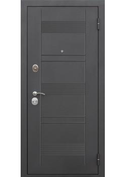 Двери 7,5 см Бергамо муар Лиственница мокко/Темный кипарис Царга Таримус