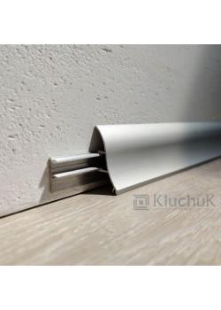 Плінтус алюмінієвий накладний 35х17 мм анод вогнутий Kluchuk