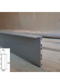 Алюмінієвий плінтус прихованого монтажу 53 мм БП Kluchuk