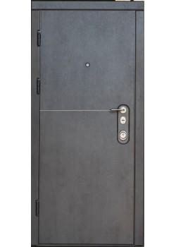 """Двері Горизонт Темний бетон-Бежевий бетон з вузьким молдингом """"Very Dveri"""""""