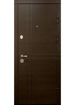 Двери ПК-180/161 ЕЛИТ Венге горизонт темный/Царга белая текстура Министерство Дверей
