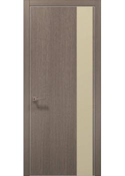 Двери PL-05 дуб серый брашированный Папа Карло