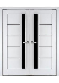 Двери Грета BLK белый матовый двойные Новый Стиль