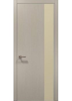 Двери PL-05 дуб кремовый брашированный Папа Карло
