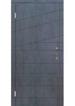 Двері Діагональ PREMIUM венге темн. горизонт Портала