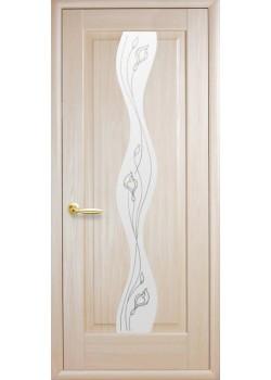 Двери Волна+Р2 Ясень Новый Стиль