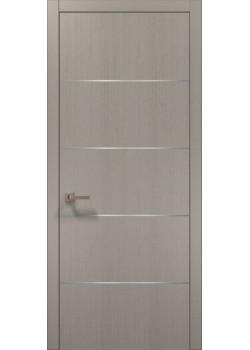 Двері PL-02 пекан світло-сірий Папа Карло