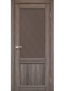Двери CL-02 сатин бронза Korfad