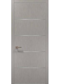 Двері PL-02 шовк срібло Папа Карло
