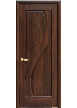 Двери Прима ПГ с гравировкой каштан Новый Стиль