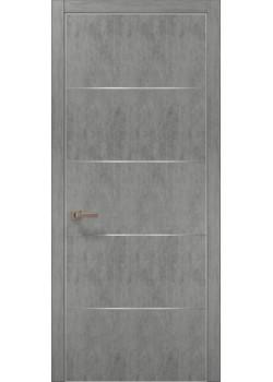 Двері PL-02 бетон світлий Папа Карло