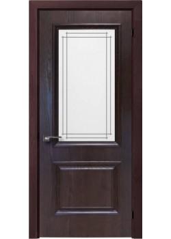 Двері Avalon Напівскло Шпон Rodos