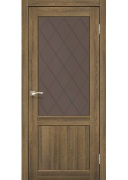 Двери CL-01 сатин бронза Korfad
