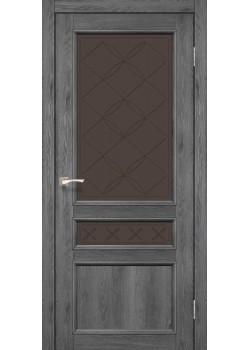 Двери CL-05 сатин бронза Korfad