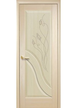 Двері Амата ПГ з гравіровкою ясень Новий Стиль