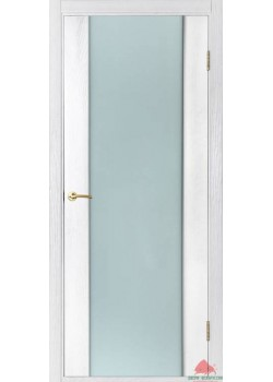 Двері Соня ПО (білий ясень) з білим склом триплекс Двері Білорусії