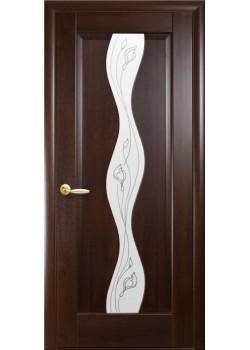 Двери Волна+Р2 Каштан Новый Стиль