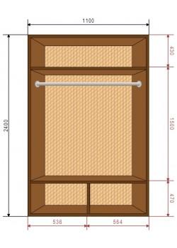 Шкафы-купе Деликатес DeNira 11-3