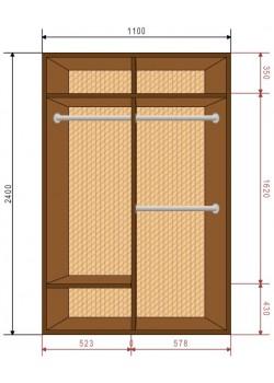 Шкафы-купе Деликатес DeNira 11-4
