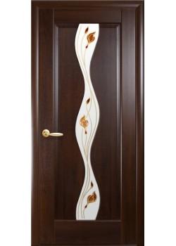 Двери Волна+Р1 Каштан Новый Стиль