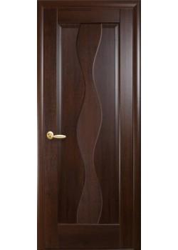 Двери Волна Каштан Новый Стиль