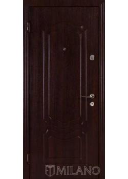 Двері Джента 701 темний горіх Мілано