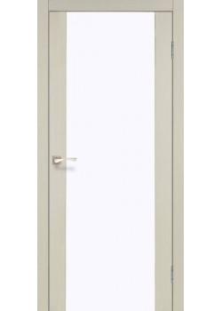 Двери SR-01 белое стекло Korfad