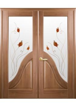 Двери Амата+Р1 двойные Новый Стиль