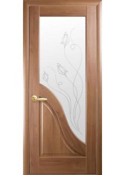 Двери Амата+Р2 Золотая Ольха Новый Стиль