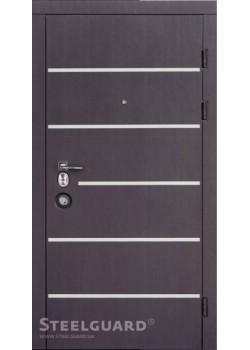 Двері AV-5 (Венге темний-Білий шовк) Steelguard