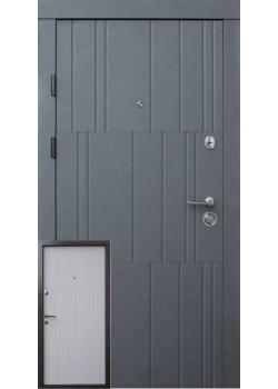 Двери Премиум Арт бетон графит-бетон крем Qdoors