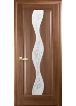Двери Волна+Р2 Золотая Ольха Новый Стиль