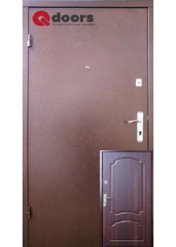 Двері Лайт М Оптима темний горіх Qdoors