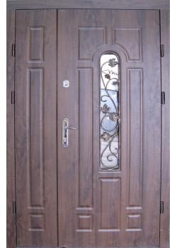 Двері Арка вулиця з притвором + ковка 1200 Redfort
