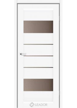 Двери Arona Белые бронза Leador