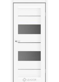 Двери Canneli Белые серый графит Leador