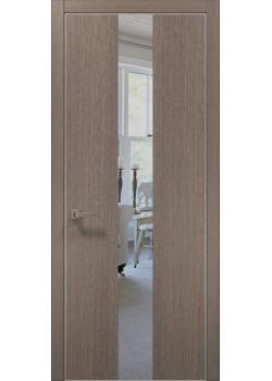 Двери PL-06 дуб серый брашированный Папа Карло